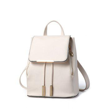 Preppy Cover and Solid Color Design Satchel For Women - OFF-WHITE OFF WHITE
