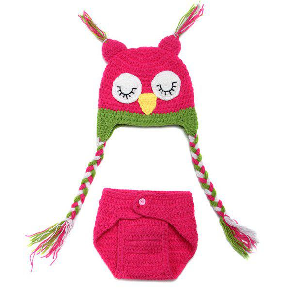 High Quality Owl Shape Handmade Crochet Knitted Beanie Hat and Shorts Set Baby Clothes сабвуферы canton sub 10 3 white