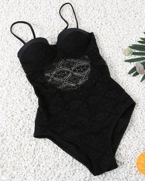 Hollow Out Spaghetti Strap Lace Swimsuit hollow out swimsuit