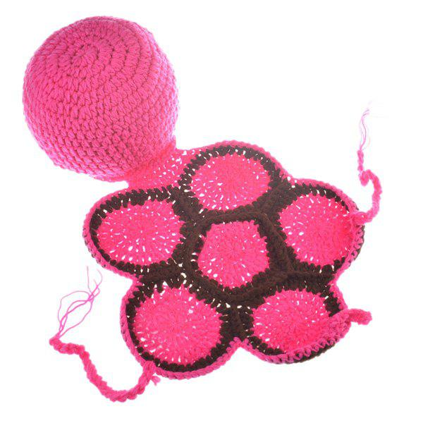 High Quality Tortoise Style Handmade Crochet Knitting Beanie Hat Clothes Set For Baby - ROSE