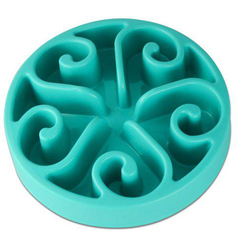 Hot Sale Fun Dog Cat Slow Food Feeder Pet Anti Choke Bowl - TIFFANY BLUE