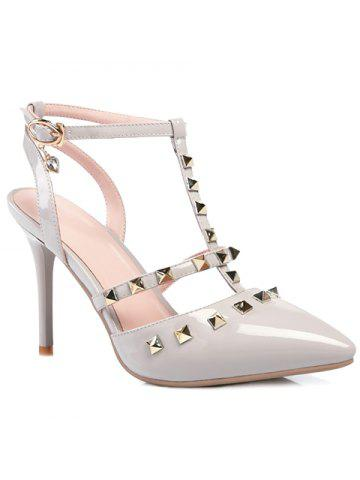 Stylish Pointed Toe and Rivet Design Women's Sandals