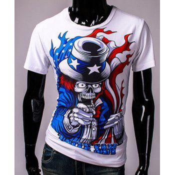 3D Clown Devil Print Round Neck Short Sleeves Men's T-Shirt