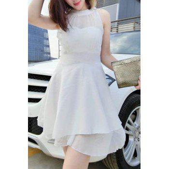 Mini Sleeveless Voile Insert Dress