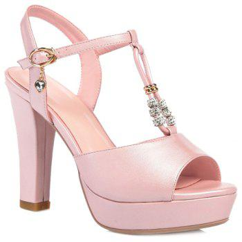 Trendy T-Strap and Peep Toe Design Women's Sandals