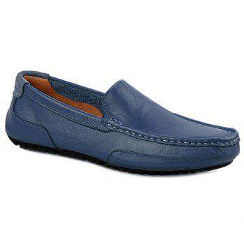 Trendy Solid Colour and Stitching Design Men's Casual Shoes