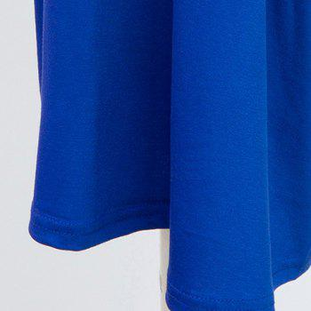Stylish Women's Wide Leg Blue Capri Pants - BLUE BLUE