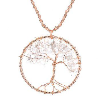 Retro Life Tree Round Pendant Necklace