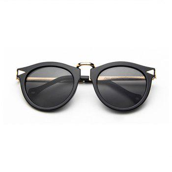 Chic Arrow Shape Embellished Black Frame Women's Sunglasses - DEEP GRAY DEEP GRAY