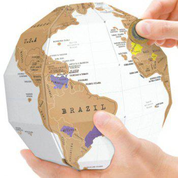 High Quality Office Decoration 3D Traveling World Map DIY Combined Type Scratching Tellurion - COLORMIX COLORMIX