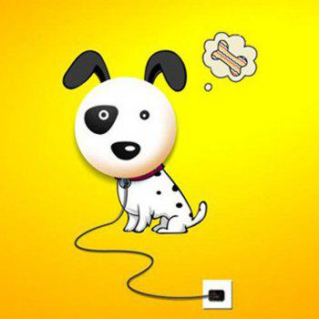 High Quality 3D Cartoon Spotted Dog Shape Bedside Energy Saving Light Wall Sticker Lamp - WHITE WHITE