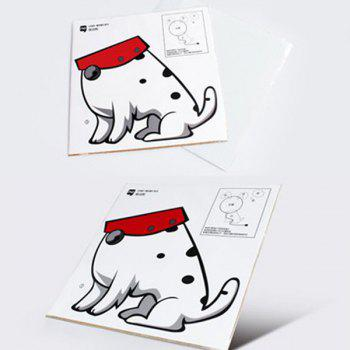 High Quality 3D Cartoon Spotted Dog Shape Bedside Energy Saving Light Wall Sticker Lamp -  WHITE