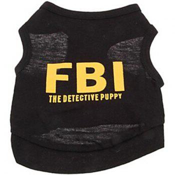Stylish Pet Supplies Letter Printing Vest Black Puppy Clothing