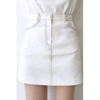 Brief High Waisted Solid Color Mini Skirt For Women