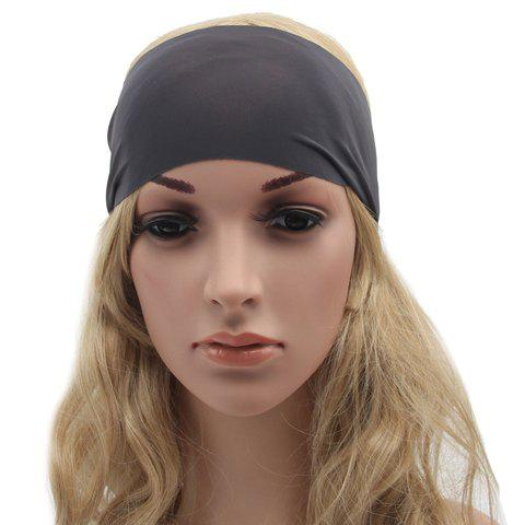Chic Solid Color Sport Headband For Women - DEEP GRAY