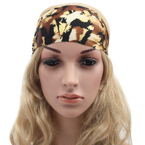 Chic Abstract Pattern Sport Headband For Women - LIGHT BROWN