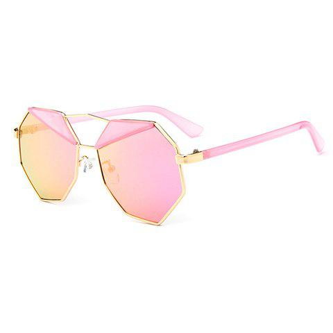 Chic Metal Polygonal Frame Women's Sunglasses - PINK