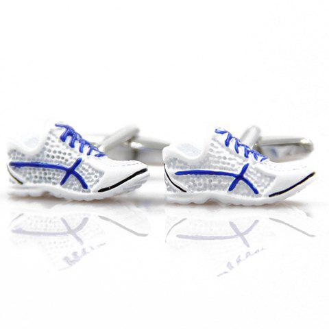 Pair of Trendy Mini Gym Shoes Shape Alloy Cufflinks For Men - COLORMIX