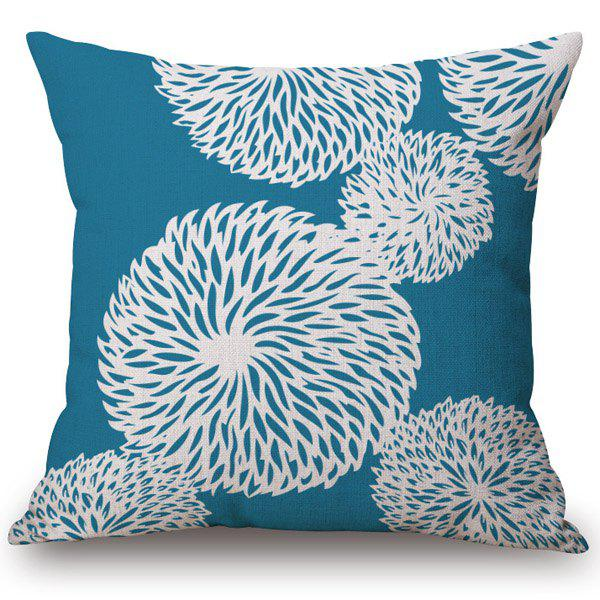 Fashionable Blossom Pattern Cotton and Linen Pillow Case(Without Pillow Inner) - COLORMIX