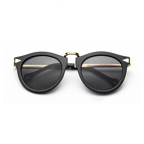 Chic Arrow Shape Embellished Black Frame Women's Sunglasses