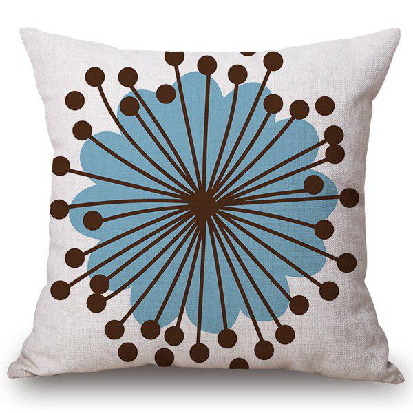 Chic Quality Flower Core Pattern Cotton and Linen Pillow Case(Without Pillow Inner) - COLORMIX
