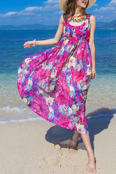 Sweet Women's U-Neck Sleeveless Floral Print Summer Dress oem fox oem g10