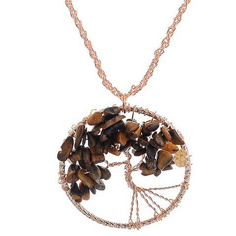 Charming Life Tree Round Pendant Necklace For Women