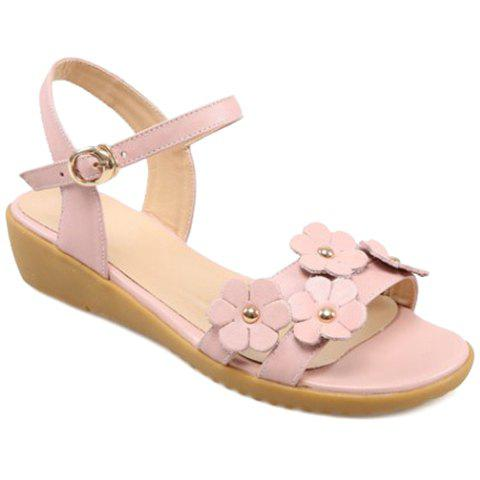 Casual Floral and Low Heel Design Women's Sandals