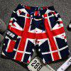 Union Jack Print Lace-Up Straight Leg Pocket Men's Shorts - RED XL