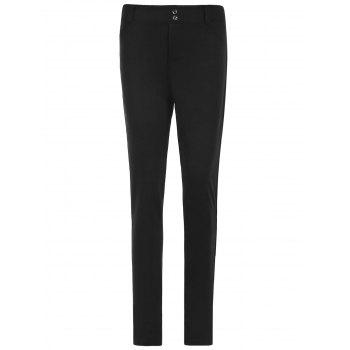 Attractive Pure Color Mid Waist Bodycon Leggings For Women