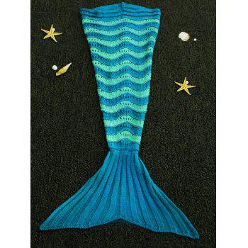 Sweet Knitted Stretchy Hit Color Fishtail Blanket For kids - COLORMIX COLORMIX