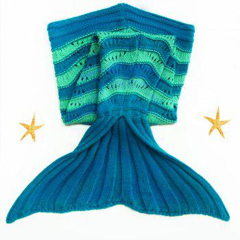 Sweet Knitted Stretchy Hit Color Fishtail Blanket For kids - COLORMIX