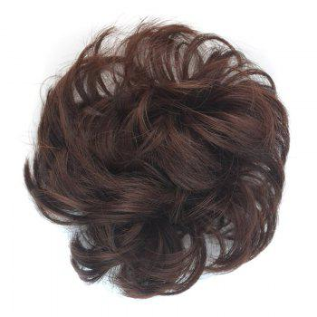 Fashion Heat Resistant Fiber Bouffant Curly Bun Capless Chignons - DARK AUBURN BROWN DARK AUBURN BROWN