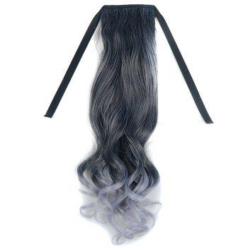 Fluffy Wavy Long Capless Stunning Black Ombre Grandma Ash Synthetic Ponytail For Women