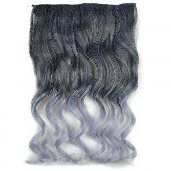 Fluffy Curly Fashion Long Black Ombre Grandma Ash Synthetic Hair Extension For Women