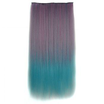 Two-Tone Ombre Clip-In Fashion Long Silky Straight Synthetic Hair Extension For Women