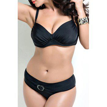 Padded Plus Size Push Up Bikini Suitn