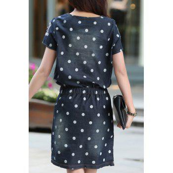 Robe Trendy à manches courtes col rond à pois Nipped taille femme - BAEC XL