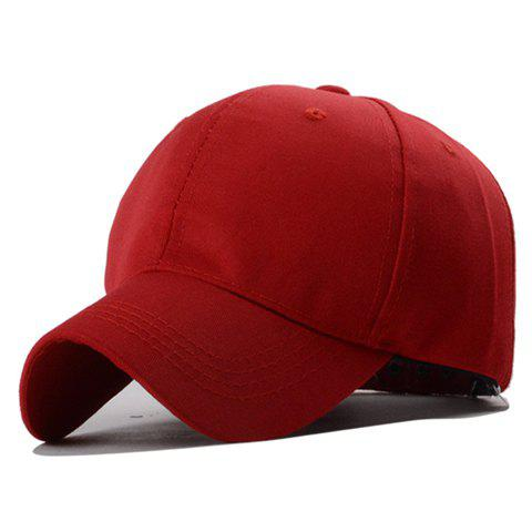 Trendy Button Decorated Solid Color Baseball Hat For Men - RED