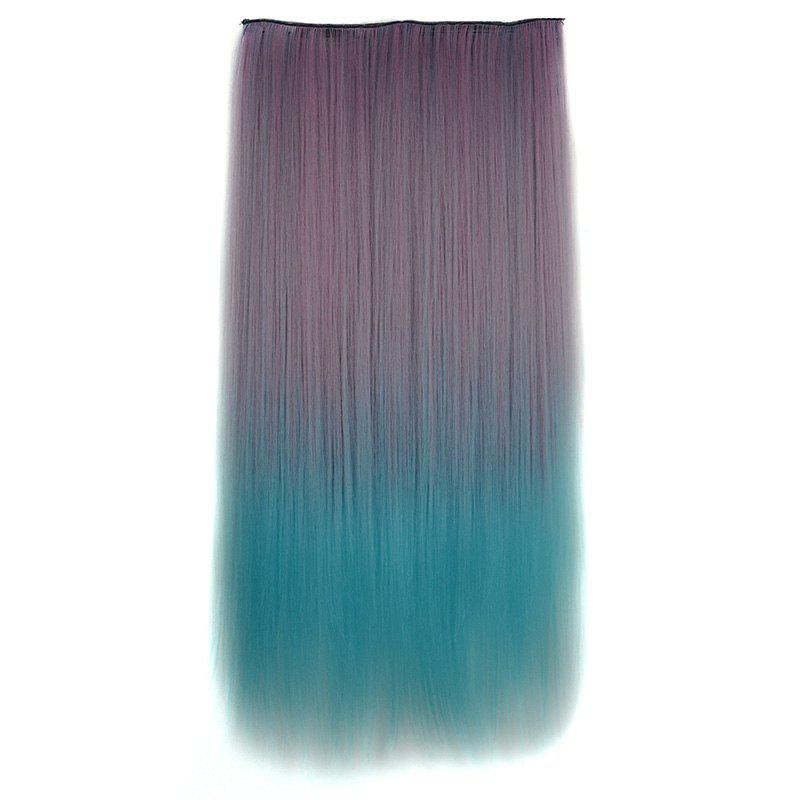 Two-Tone Ombre Clip-In Fashion Long Silky Straight Synthetic Hair Extension For Women - OMBRE