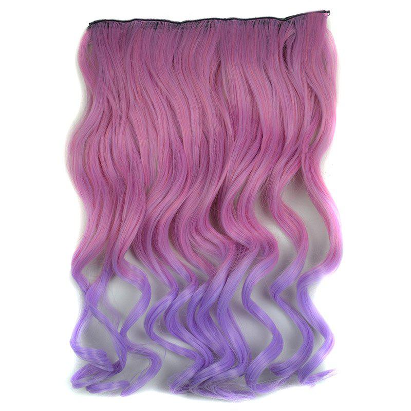 Shaggy Curly Purple Ombre Clip In Vogue Long Synthetic Hair Extension For Women - COLORMIX