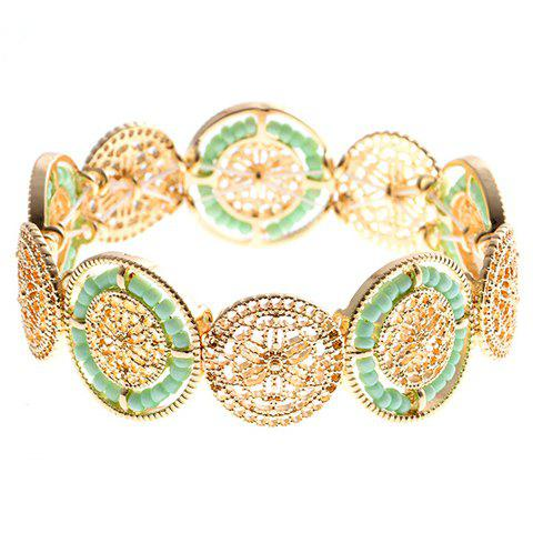 Vintage Flower Hollow Out Beads Bracelet For Women