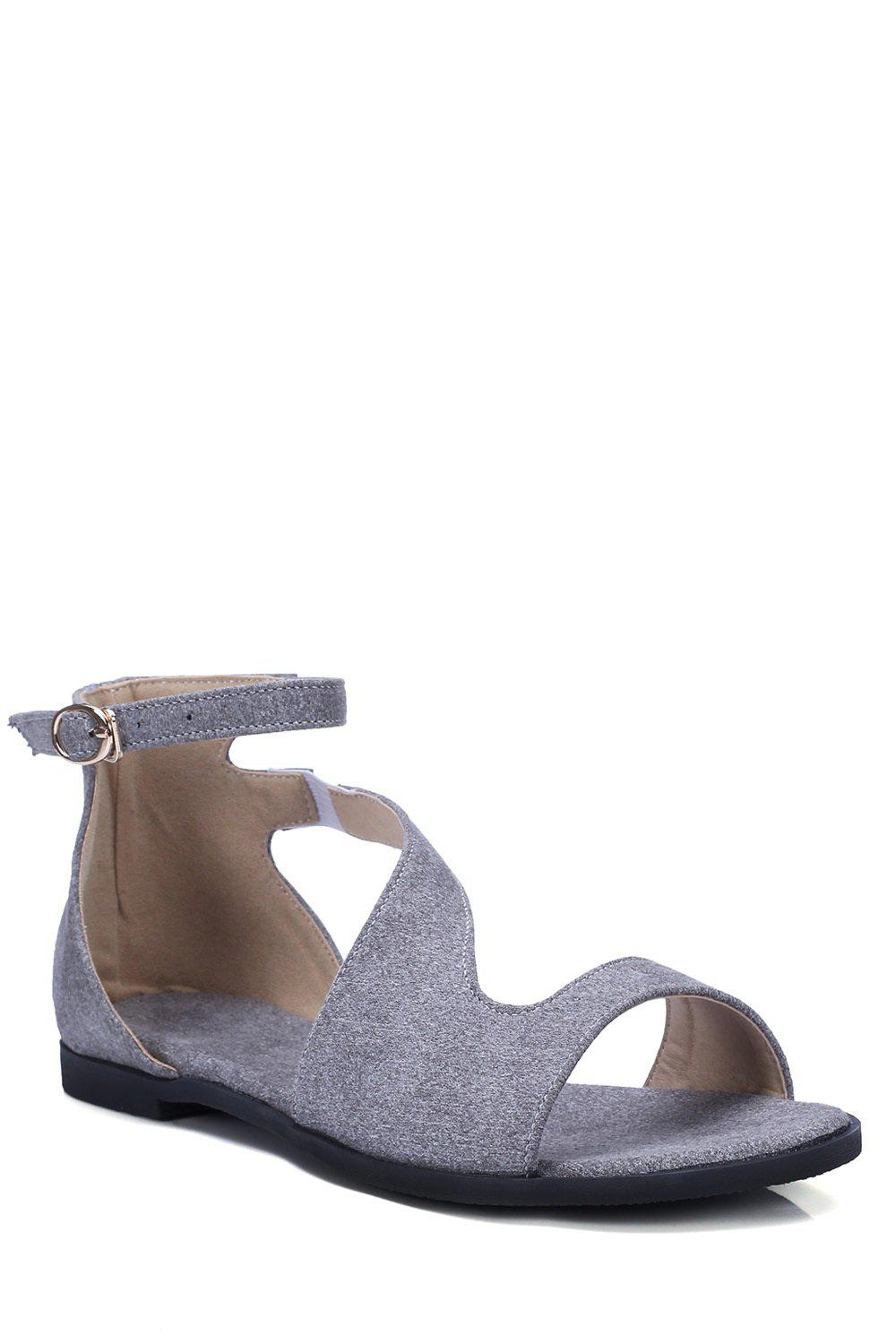 Casual Solid Color and Flat Heel Design Sandals For Women