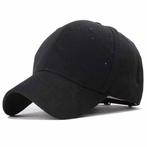 Trendy Side Letters Embroidery Solid Color Baseball Hat For Women - BLACK