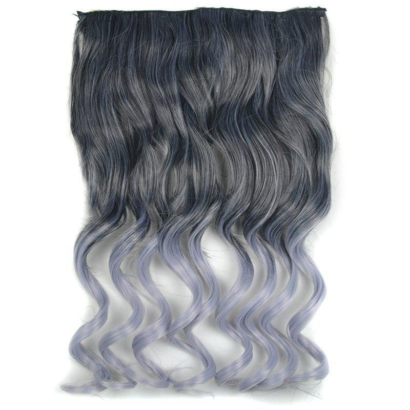 Fluffy Curly Fashion Long Black Ombre Grandma Ash Synthetic Hair Extension For Women - OMBRE 2