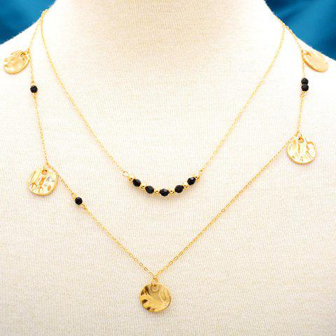 Multilayered Sequins Necklace - GOLDEN