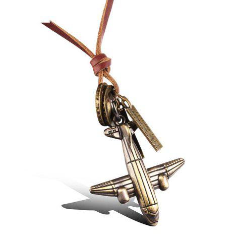 Delicate Airplane Cross Shape Sweater Chain For Men - TEA COLORED