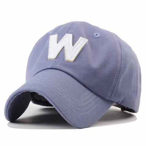 Trendy Simple Letters Embroidery Solid Color Baseball Hat For Men - LIGHT PURPLE