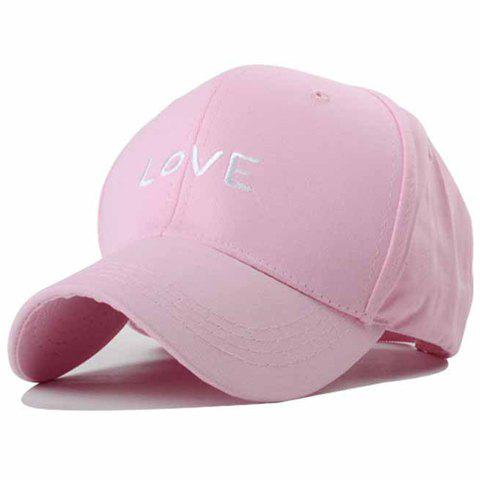 Chic Love Word Embroidery Women's Baseball Cap - PINK