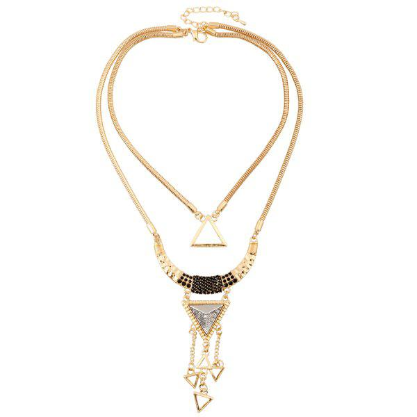 Chic Hollow Triangle Pendant Necklace For Women